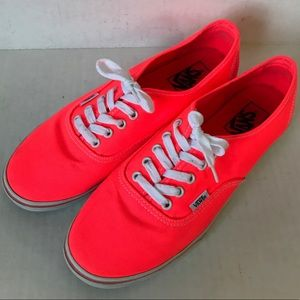 VANS Neon coral pink Lo pro lace up sneakers